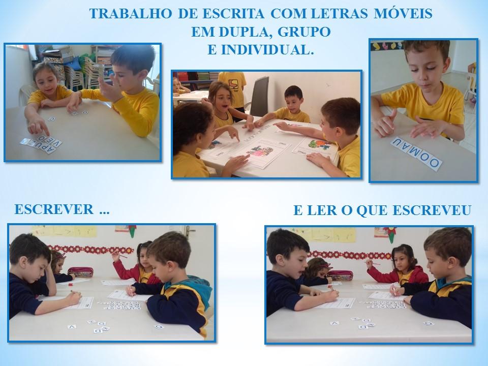 Mostra das atividades pedagógicas do 1° semestre 2017 Pré