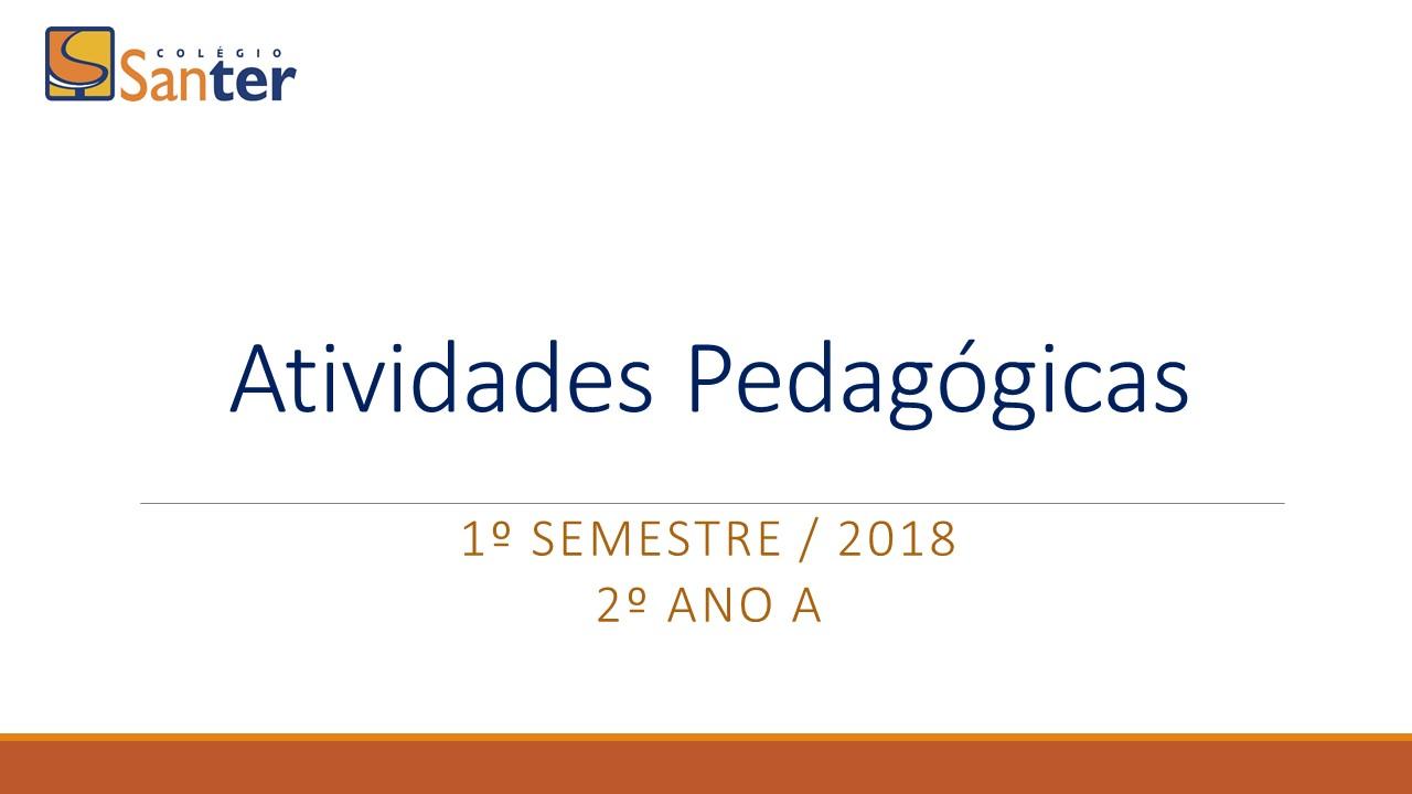 Mostra das atividades pedagógicas 1° semestre do 2° ano A.